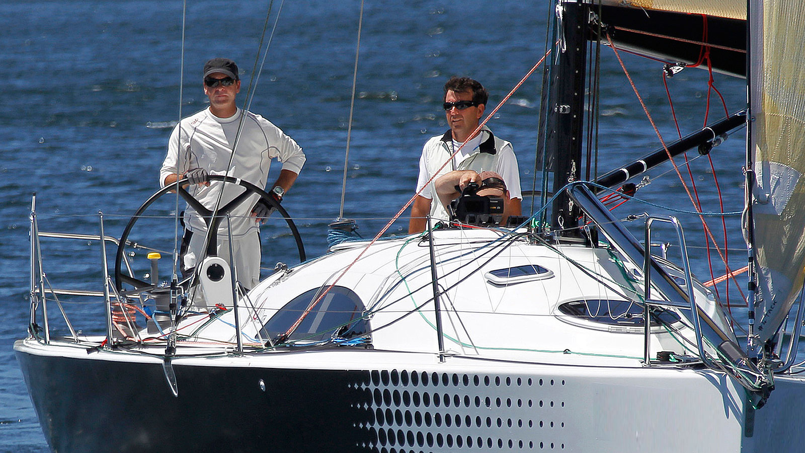 Philippe Paturel et Sylvain Barrielle, co skippers du CLASS40 Saint-Pierre et Miquelon
